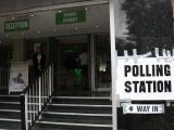 トッテンナム・コート・ロード近くの投票所