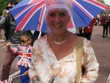 バッキンガム宮殿前でのパレード