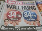 投票日のザ・サン紙