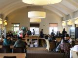 ウィンブルドン選手権予選会場の食堂