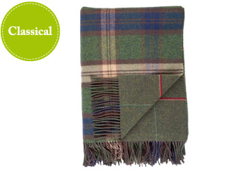 Johnston Reversible Tweed Throw